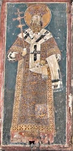 Увећана слика Светог Саве патријарха.