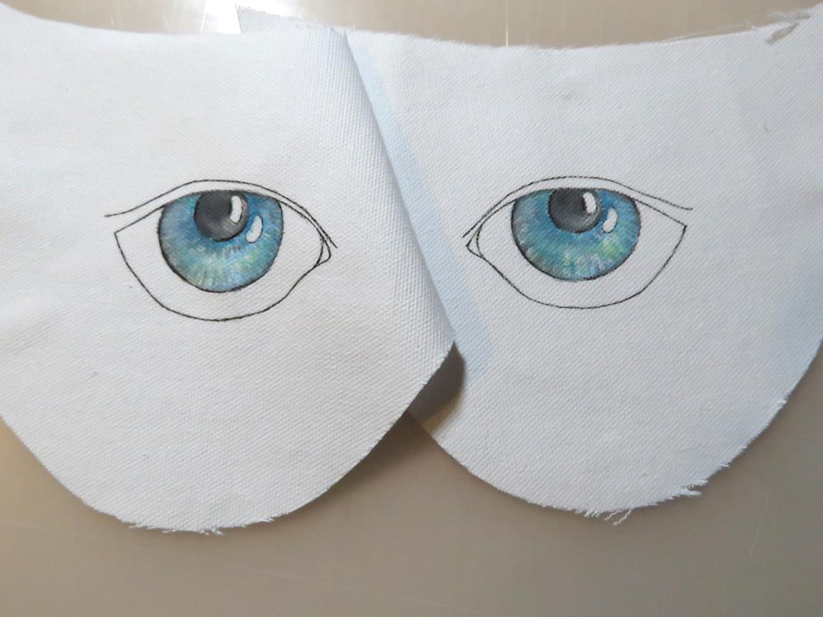 Bespoke espadrille design hand painted onto pure linen