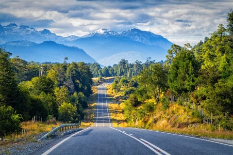 Scenic road on Chilean Carretera Austral. Patagonia, Chile