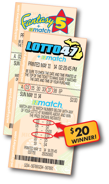 EZmatch Fantasy 5 and Lotto 47 Ticket Examples