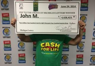 Cash For Life Winner John M.