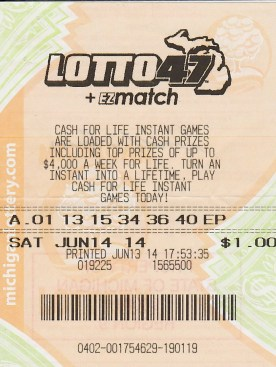 Lotto 47 Winning Ticket from 06.14.14