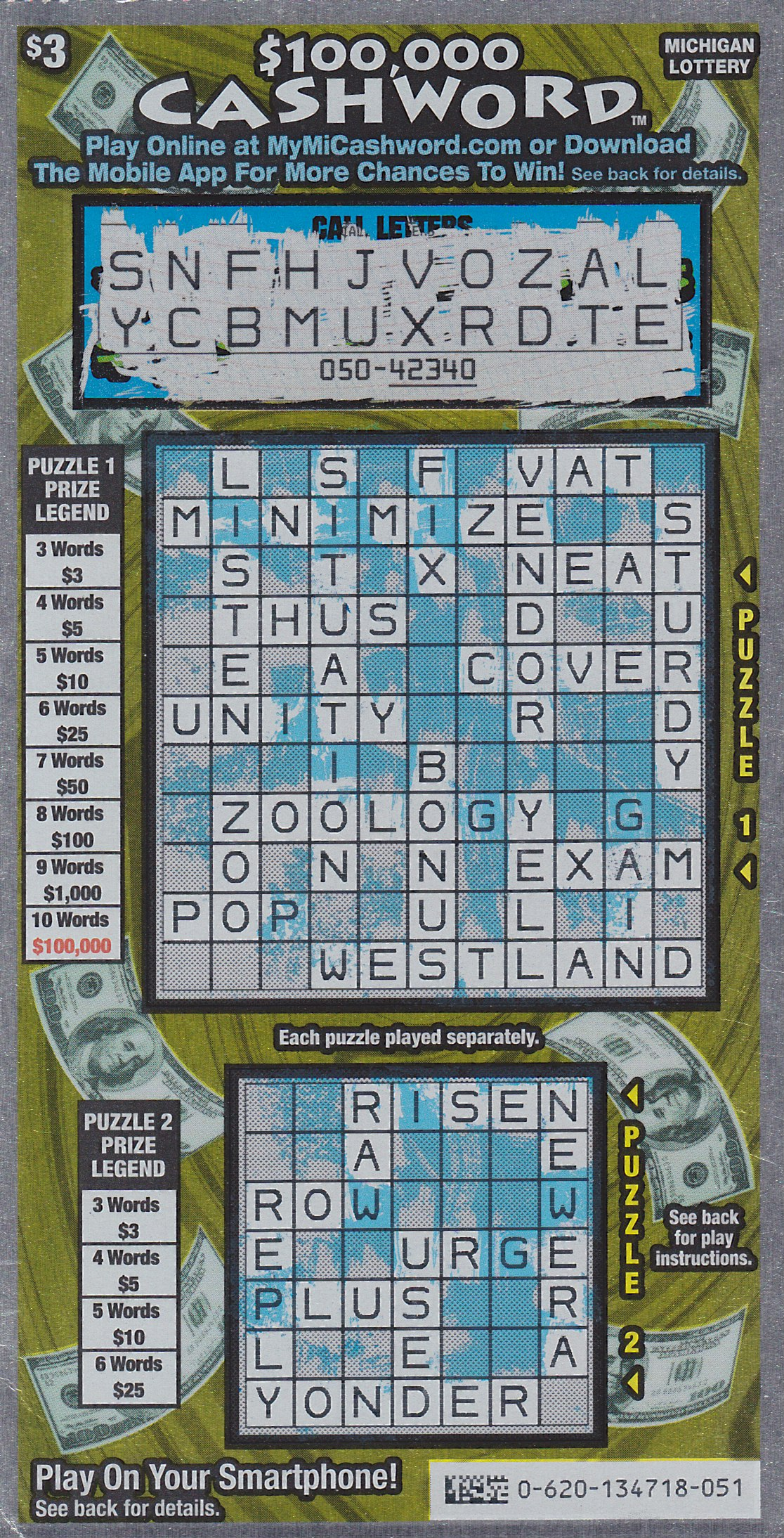Isabella County Man Cashes in on $100,000 Prize Playing