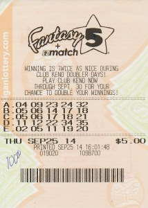A Wayne County woman claimed a $204,954 Fantasy 5 jackpot from Sept. 25 with this $5 ticket.