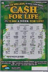 Winning Cash for Life ticket.