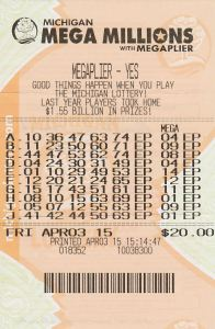 David Kalanik's $5 million winning Mega Millions ticket.