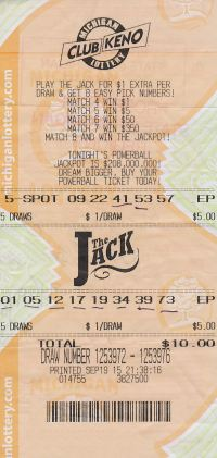 09.21.15 CK The Jack 09.19.15 Draw 1253972 $110,274 Anonymous Genesee County