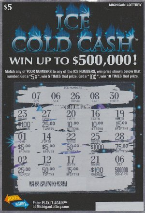 12.28.15 Ice Cold Cash IG# 777 $500,000 Anonymous Wayne County