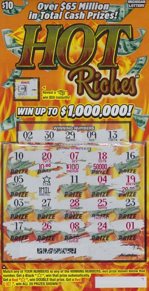 01.13.16 IG 756 Hot Riches $1,000,000  Anonymous, Wayne County