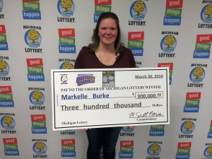 Markelle Burke wasn't sure if she should cry or throw up after winning $300,000 playing Caesars Jackpot.