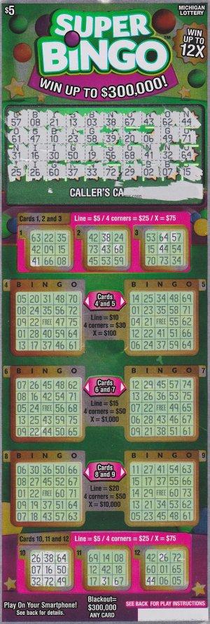 Cathy Lemon's winning Super Bingo ticket.
