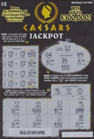 05.13.16 Caesars Jackpot IG 759 $300,000 Anonymous Wayne County