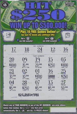 Adam Joprdan's winning ticket.