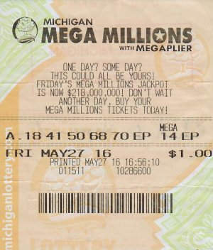 Richard Hopper Sr.'s winning Mega Millions ticket.