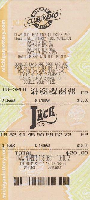 Hall's winning ticket.