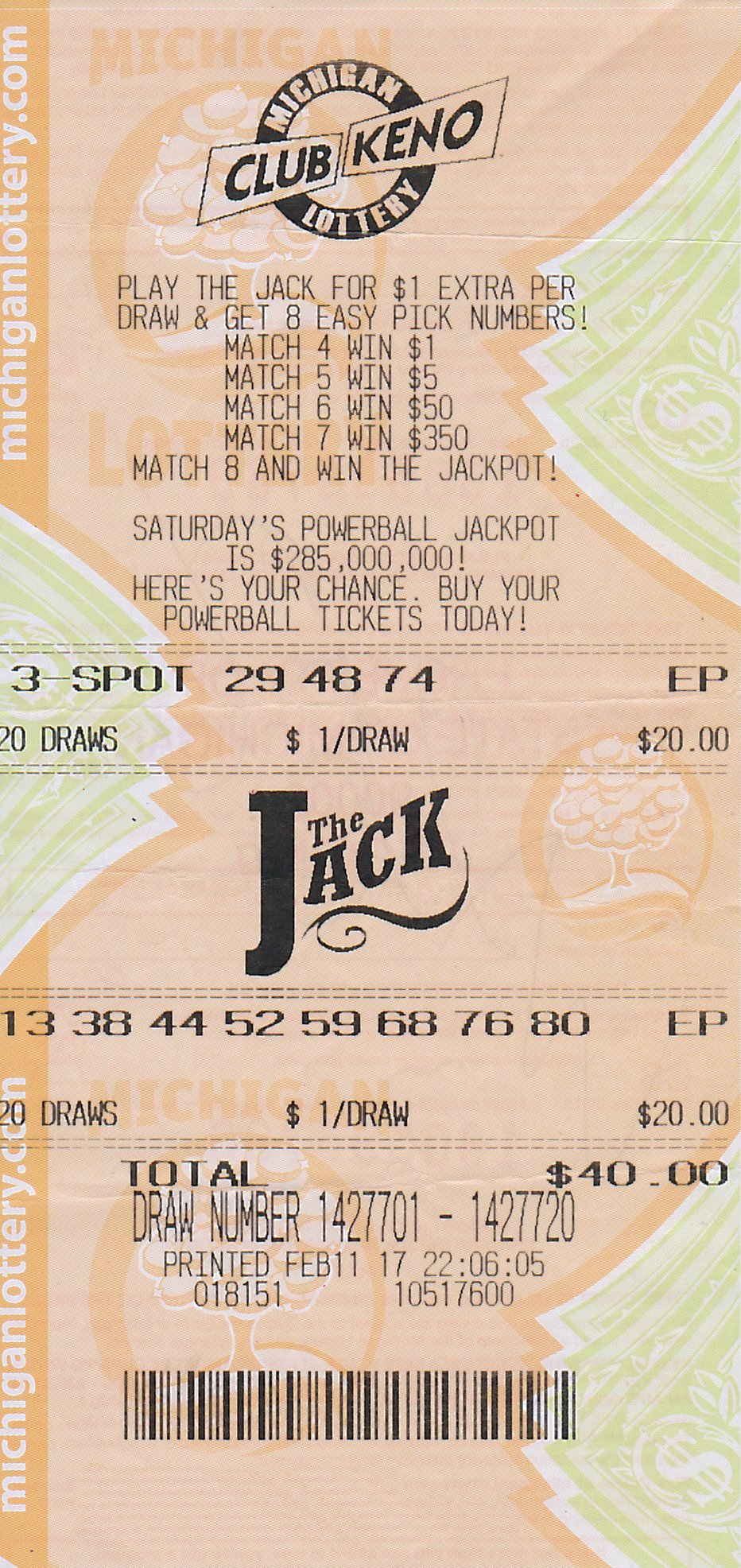 Wayne County Man Wins Second Club Keno The Jack Prize from Michigan