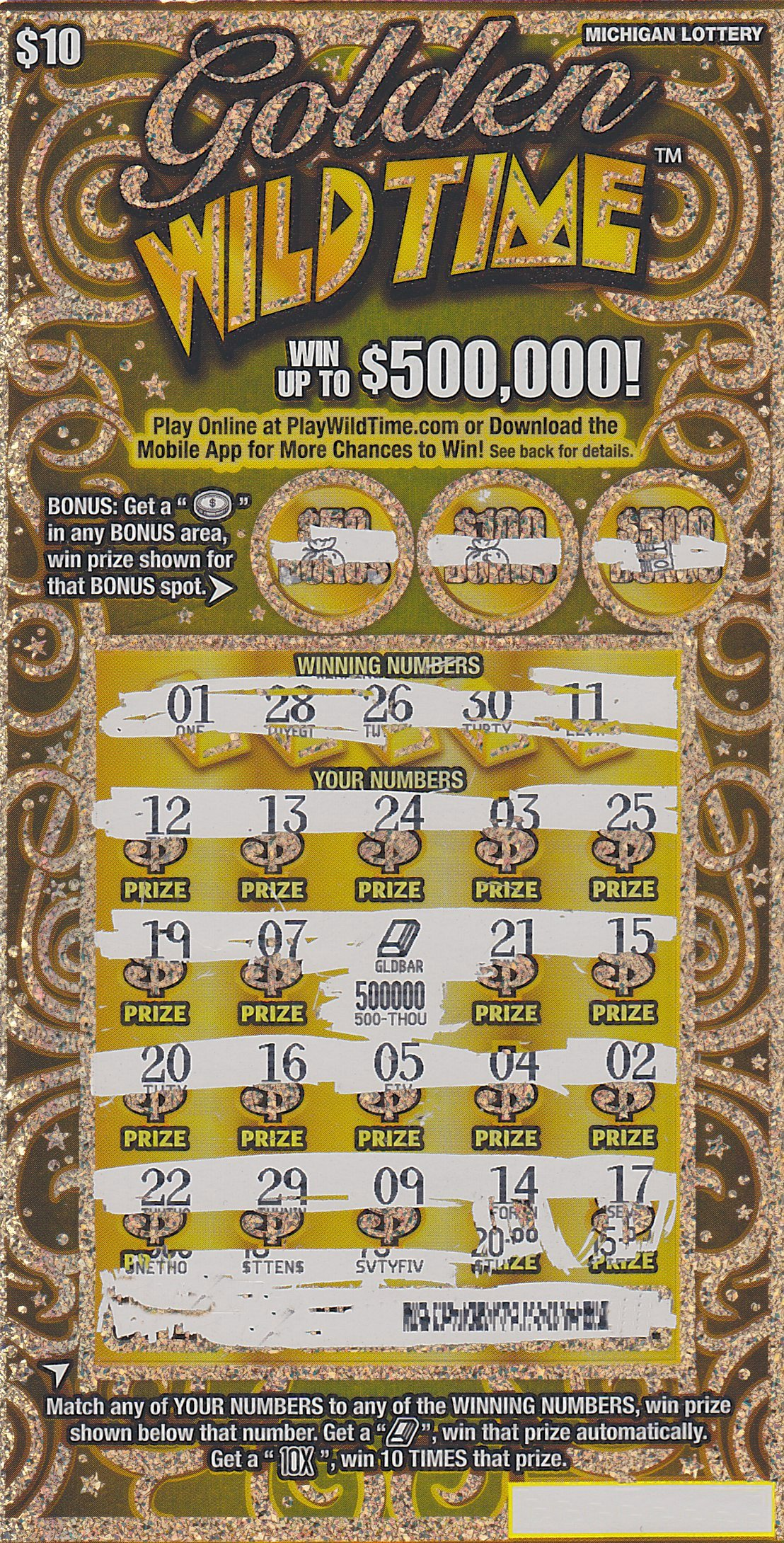 Remaining lottery scratch card prizes in michigan