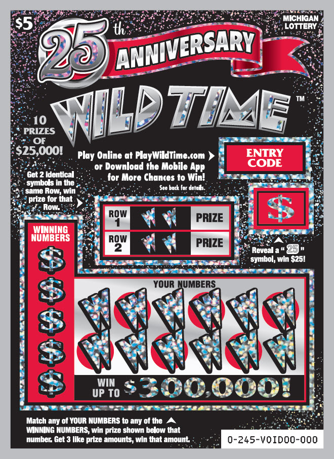 Michigan Lottery Celebrates 25 Years of Wild Time Instant Games