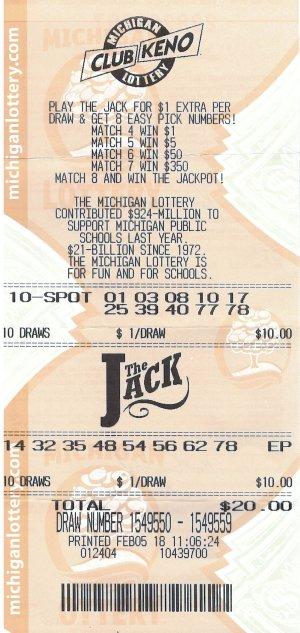 Crawford's winning ticket.