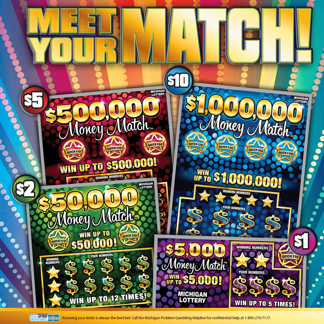 New Money Match Instant Games Go on Sale Tuesday | Michigan Lottery