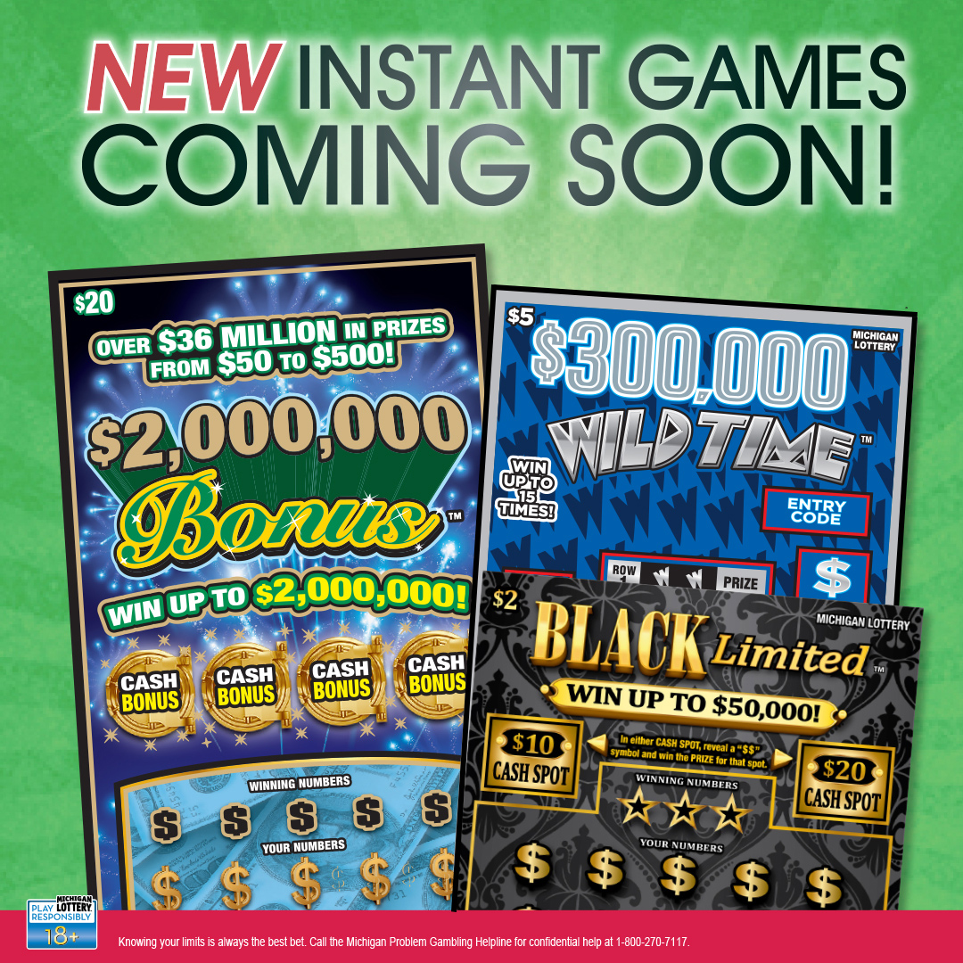 New Michigan Lottery Instant Games Offer Players Chances to Win up