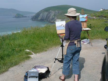 Plein air Oil Painting in Dingle, Ireland