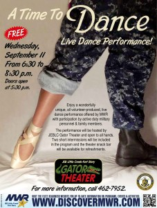 """Advertisement for our first """"A Time To Dance"""" performance."""