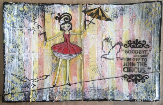 """Circus Girl"" Mied Media piece"