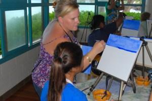 Tammy Teaching at Mai Tais and Monet