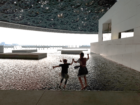 My two adventurous daughters at the Louvre, Abu Dhabi. I know they will fearlessly jump into life at our next post, no problem. It's the momma who is having difficulty with the latest leap…