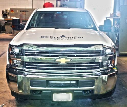 MILSPRAY's Tough Coat™ is applied to DC Electrical Services Chevrolet Silverado