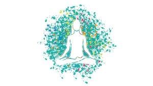 Colorful yoga mosaic