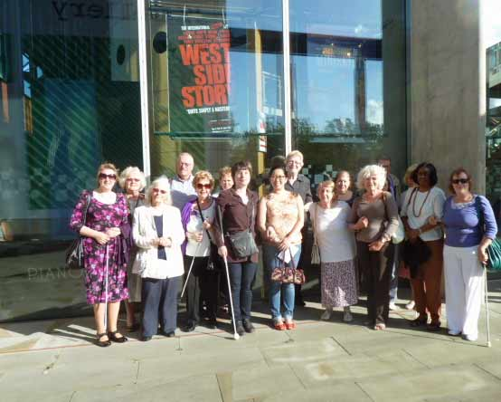 MKRS members outside MK Theatre for West Side Story