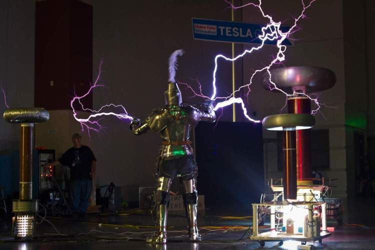 Rook the Knight versus the Tesla Coils