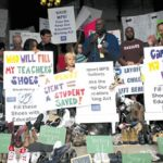 Rally to support students in face of layoffs