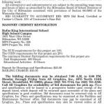 MPS Requesting BIDs for Masonry Chimney Restoration at Rufus King High School
