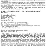 MPS Requesting BIDs for 2011 Cyclic Coil and Unit Ventilator Replacement at Grantosa Drive School