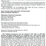 MPS Requesting BIDs for 2011 Cyclic Coil and Unit Ventilator Replacement at Milwaukee School of Languages