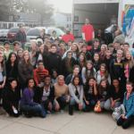 Nicolet High School students participated in a food drive