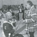 Kenneth D. Brown II proposed to Fayomi Iyafemi Agbongbonon on the first day of Kwanzaa
