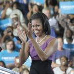Michelle Obama stresses message of moving forward at DNC