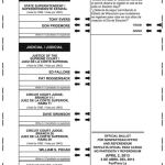 Notice of Spring Election, Special Election and Sample Ballots