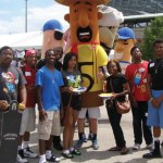 Students Talking it Over with Police Back to School Bash held at Miller Park