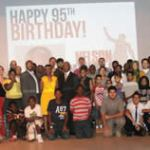 The 95th Birthday of Nelson Mandela was celebrated at the Milwaukee Public Library on July 18, 2013