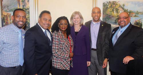Mary-Burke-democratic-candidate-challenge-Governor-Scott-Walker-David-Bowen-Spencer-Coggs-Gwen-Moore-Mandela-Barnes-Terrell-Martin