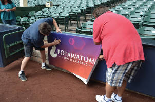 Miller Park Signage – Potawatomi Hotel & Casino signage is updated at Milwaukee's Miller Park.