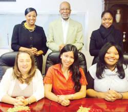 Back row from right, Olivia El-Amin, Saleem El-Amin, Sopheya Farrell, front from left, Jami Acre, Sandra Temby, Chantel Bowen