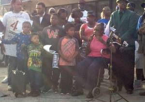 Martha Freeman voices concerns for her neighborhood