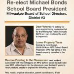 Re-Elect Michael Bonds School Board President