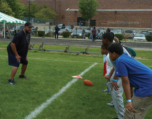 Gilbert Brown All Pro Football Camp held at North Division 1011 W. Center street.